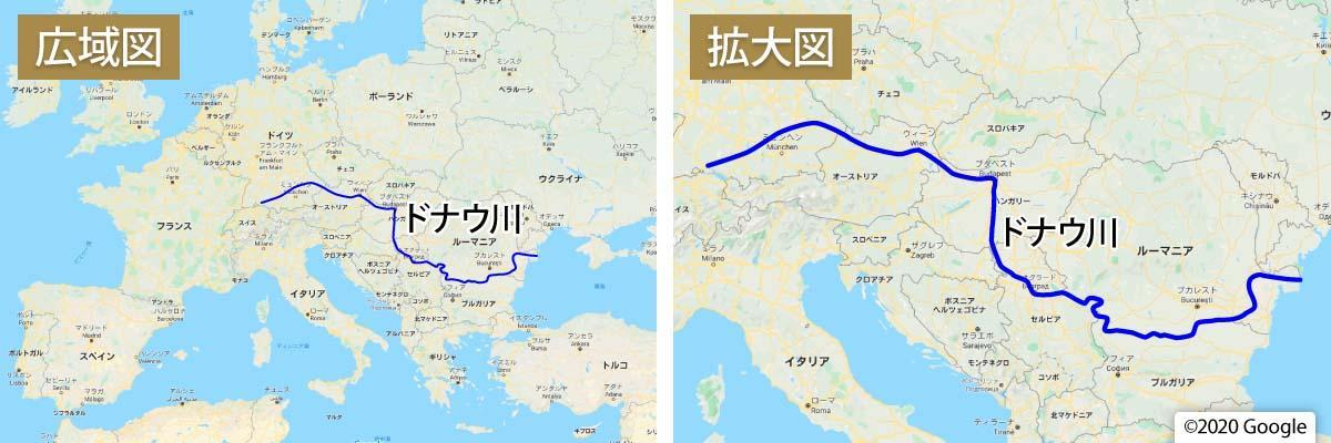 ドナウ川地図